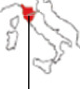 Italian Map showing Tuscany region