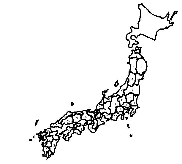 Japan map - outline